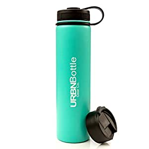 URBNBottle- Insulated Stainless Steel Water Bottle (24OZ Teal), BPA Free, Sweat Free, Vacuum Sealed Double Wall Keeps Drinks Cold Or Hot For 12+ Hours