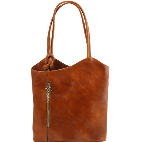 Tuscany Leather Patty Leather convertible bag Honey by Tuscany Leather