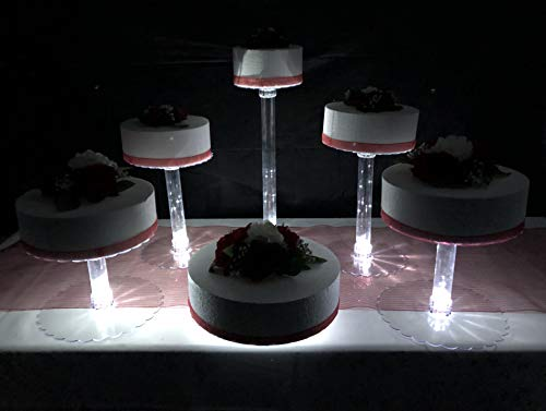 Cake Water - Multi Tier Wedding Cake Stand with LED Lights and Optional Water Fountain (6 Tier Stand, Without Fountain)