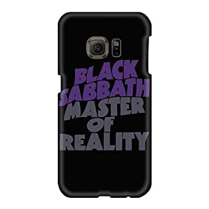 Shock-Absorbing Cell-phone Hard Cover For Samsung Galaxy S6 (SXx287sCFa) Provide Private Custom Stylish Black Sabbath Band Pictures
