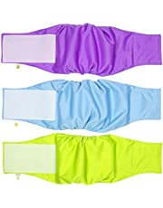 Pet Magasin Male Dog Belly Manner Band Wraps Nappies, 3-Pack, Blue Green and Purple, Medium