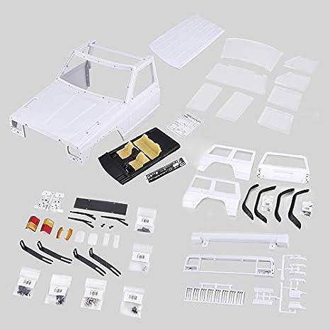 loonBonnie AX-313 12.3 Pulgadas / 313 mm Distancia Entre Ejes Body Shell DIY Kit para 1/10 RC Truck Crawler Axial SCX10 y SCX10 II 90046 90047
