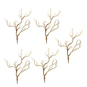 MagiDeal 5PCS Plastic Plant Tree Branches Simulation Twig Stem Home Wedding DIY Decor 1