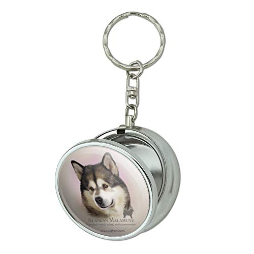 GRAPHICS & MORE Alaskan Malamute Dog Breed Portable Travel Size Pocket Purse Ashtray Keychain with Cigarette Holder ()