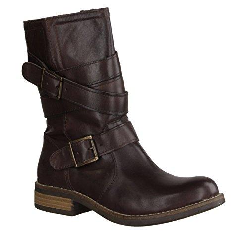tacón Shoot de Botines 20 mujer cuero mm SH14144 Zapatos Marrón moderno altura rrqSz1
