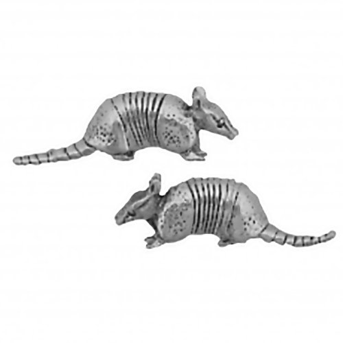 Corinna-Maria 925 Sterling Silver Armadillo Earrings Studs Tiny Stainless Steel Posts and Backs