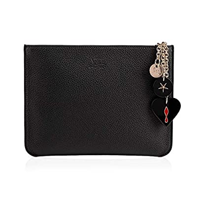 Christian Louboutin Women's 1185073CM53 Black Leather Clutch