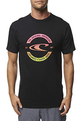 (O'Neill Men's Heritage Short Sleeve Tee Shirt (Black/Block, Small))