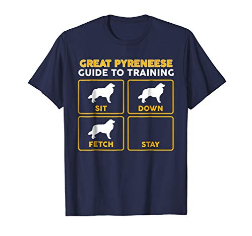 Mens Great Pyrenees T-Shirt | Funny Guide To Training Small Navy