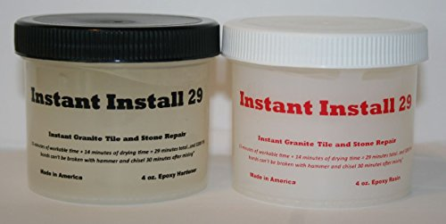 (Epox-Sci's Instant Install 29~8 oz. Knife Grade epoxy. Granite, Stone, Tile, Crack and Chip Repair/Joint or Installation Adhesive. Tintable with Our EZ-Tint 4 Color Pack.)