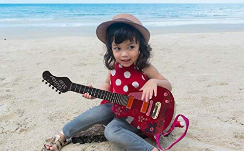 Gui5862B Sound Music and Light Fun Junior Guitar for Kids /& beginners Great Gift Pink