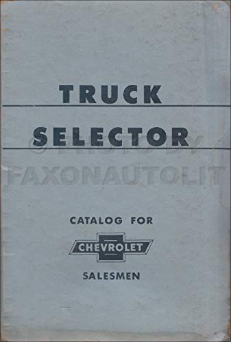 1957 Chevrolet Truck Selector Ordering Guide Dealer Album Original