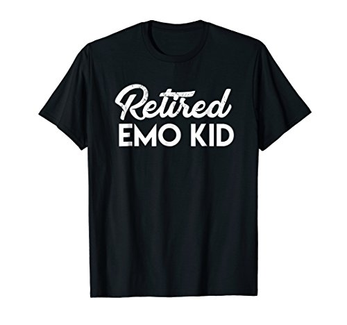 Mens Retired EMO KID T-shirt Large Black