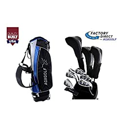 AGXGOLF Senior Men's Magnum Edition Complete Golf Club Set w/Stand Bag, 460cc Driver, 3 Wood, Hybrid, 5-9 Irons, Wedge: Right Hand Cadet, Regular or Tall Lengths: Built in The USA