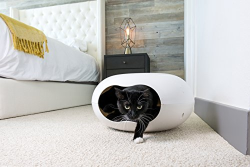 Cat Bed - Unique Cave Bed Design - This Cozy Cat Pod Comes With Plush Washable Cushion - Perfect for Small Pets
