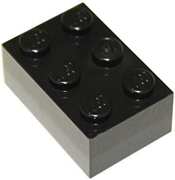 LEGO Parts and Pieces: 2x3 Black Brick x50