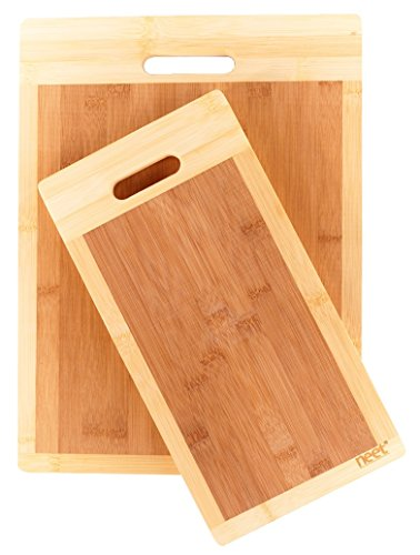 Neet Organic Bamboo Cutting Board Set (16