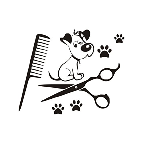 DCTOP Dogs Wall Decals Paw Prints Salon Pets Animals Art Vinyl Wall (Dog Vinyl Decal)