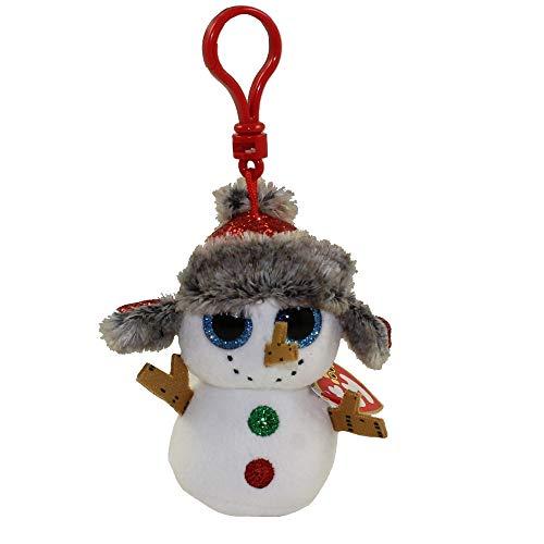 Ty Beanie Babies 35215 Boos Buttons The Christmas Snowman Boo Key Clip