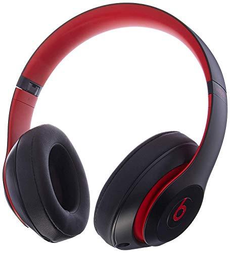 Beats Studio3 Wireless Headphones - Decade Collection, Defiant Black-Red (Renewed)