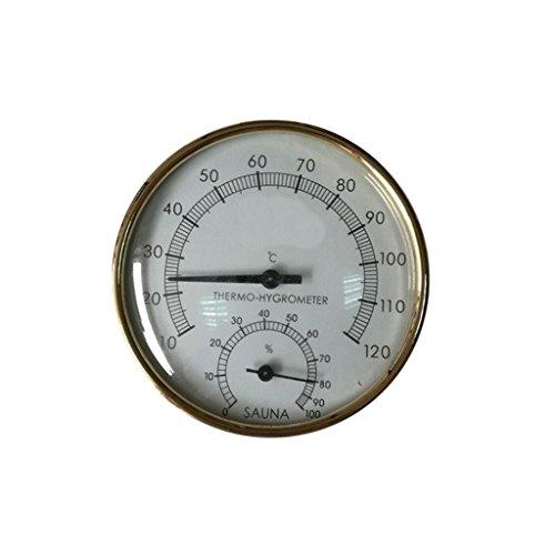 - Metal Sauna Hygrothermograph Thermometer Hygrometer Sauna Room Accessory