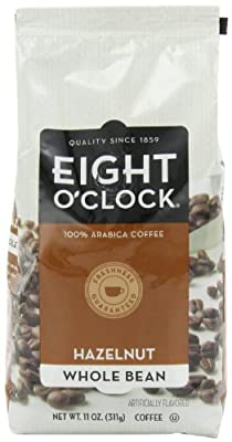 Eight O'Clock Coffee, Hazelnut Whole Bean, 11-Ounce Bags (Pack of 2)