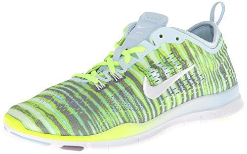 Nike Women's Free 5.0 Tr Fit 4 Prt Antarctica/White/Volt/Prpl Stl Running Shoe 8.5 Women US (Shoes Nike Free 2014 Women)