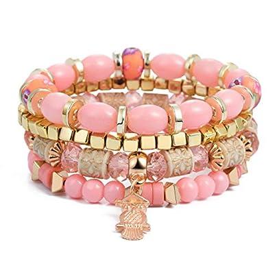 ZUOZUO Leather Wristband Pieces Set Wings Heart-Shaped Alloy Pendant Beads Bracelet Women S Lava Rock Bracelet Bracelet Estimated Price £18.99 -