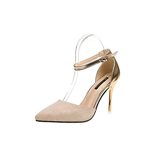 High da marea Ultra Beige di di con 39 colori femmina scarpe moda punta donna sandali Magia qp0Rw1w