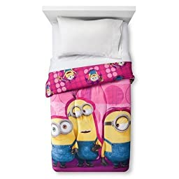 Minion Girls Twin Comforter