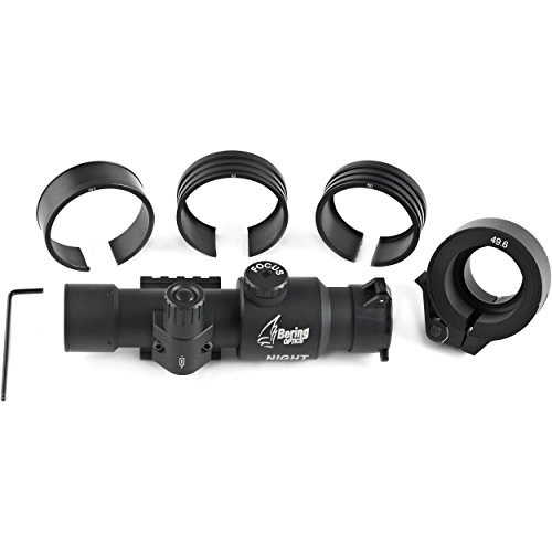 Bering Optics BE80400 Clip on Adaptor with Fitting Rings for Night Probe, Black (Airsoft Gun Clip On Scopes)