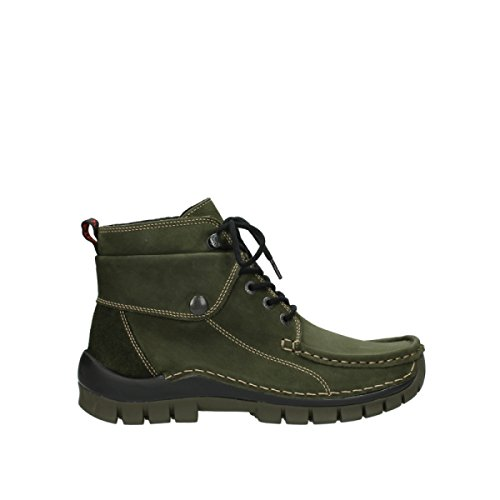 Lacets Wolky 573 Jump à Geöltes Winter Leder Forest Chaussures Comfort Grün wrq4rtU