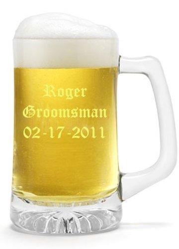 Engraved 25 Oz Sports Mug (25 oz. Beer Mug - Personalized Beer Mug by Becis Gifts)