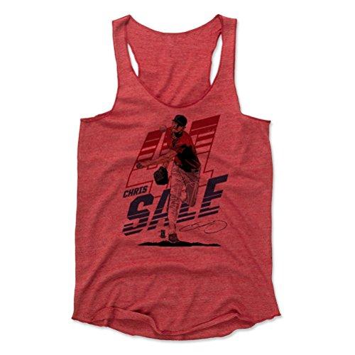 500 LEVEL Chris Sale Women's Tank Top X-Large Red - Boston Baseball Women's Apparel - Chris Sale Tech R