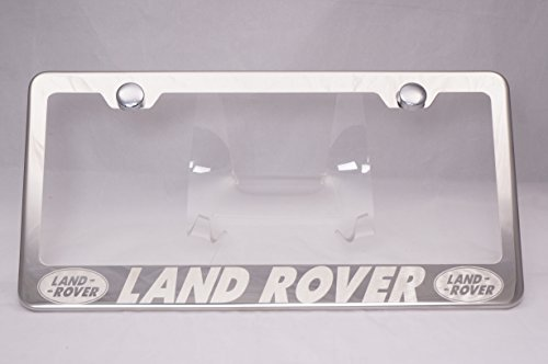 Land Rover Laser Engraved Chrome License Plate Frame with ()
