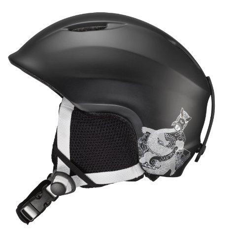 Salomon Drift Kid Ski Helmets (Black Matt, JR/XX-Small), Outdoor Stuffs