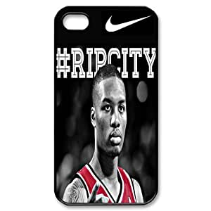 NBA Team 6 Portland Trail Blazers Damian Lillard Print Black Case With Hard Shell Cover for Apple iPhone 4/4S by ruishername
