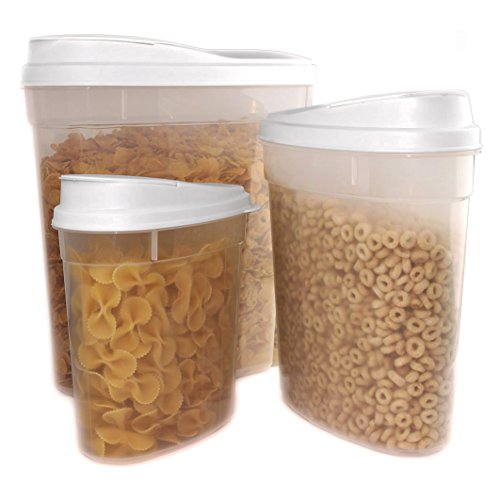 Cereal Snack Container Storage WHITE