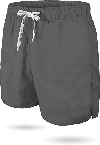 normani Herren Sport Badehose Badeshort Surfshort in Größe S-3XL Farbe Grey Größe XXL