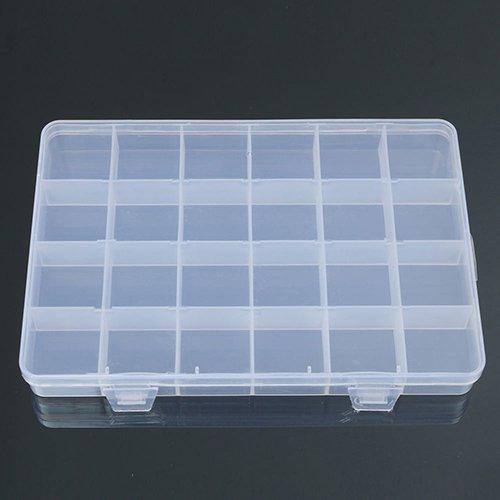 polytree 24compartimentos Artesanía de plástico caja de almacenamiento joyería Bead Organizador Contenedor Caso