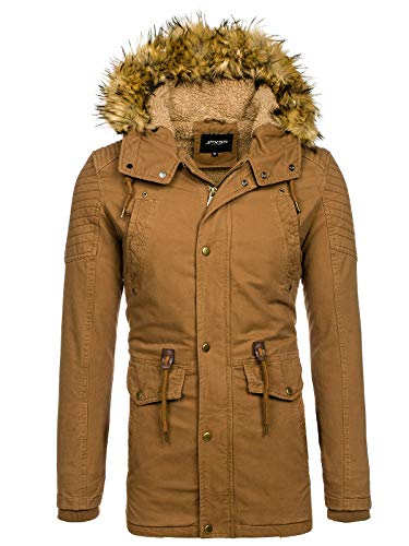 Sportif D'hiver Bolf Marron Style Capuche Parka Veste 5810 1a1 Blouson Matelassé Homme 88rwq4HT