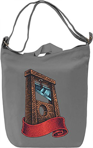 Guillotine Borsa Giornaliera Canvas Canvas Day Bag| 100% Premium Cotton Canvas| DTG Printing|