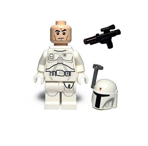 LEGO Star Wars Minifigure - Boba Fett White Proto Prototype (2015) - Jango Boba Fett