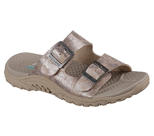 Taupe Skechers 41009 Reggae Sandals Landscape XwqwfFzx