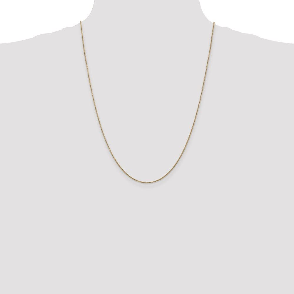14k Yellow Gold 1mm Spiga Wheat Chain Necklace 3.41g