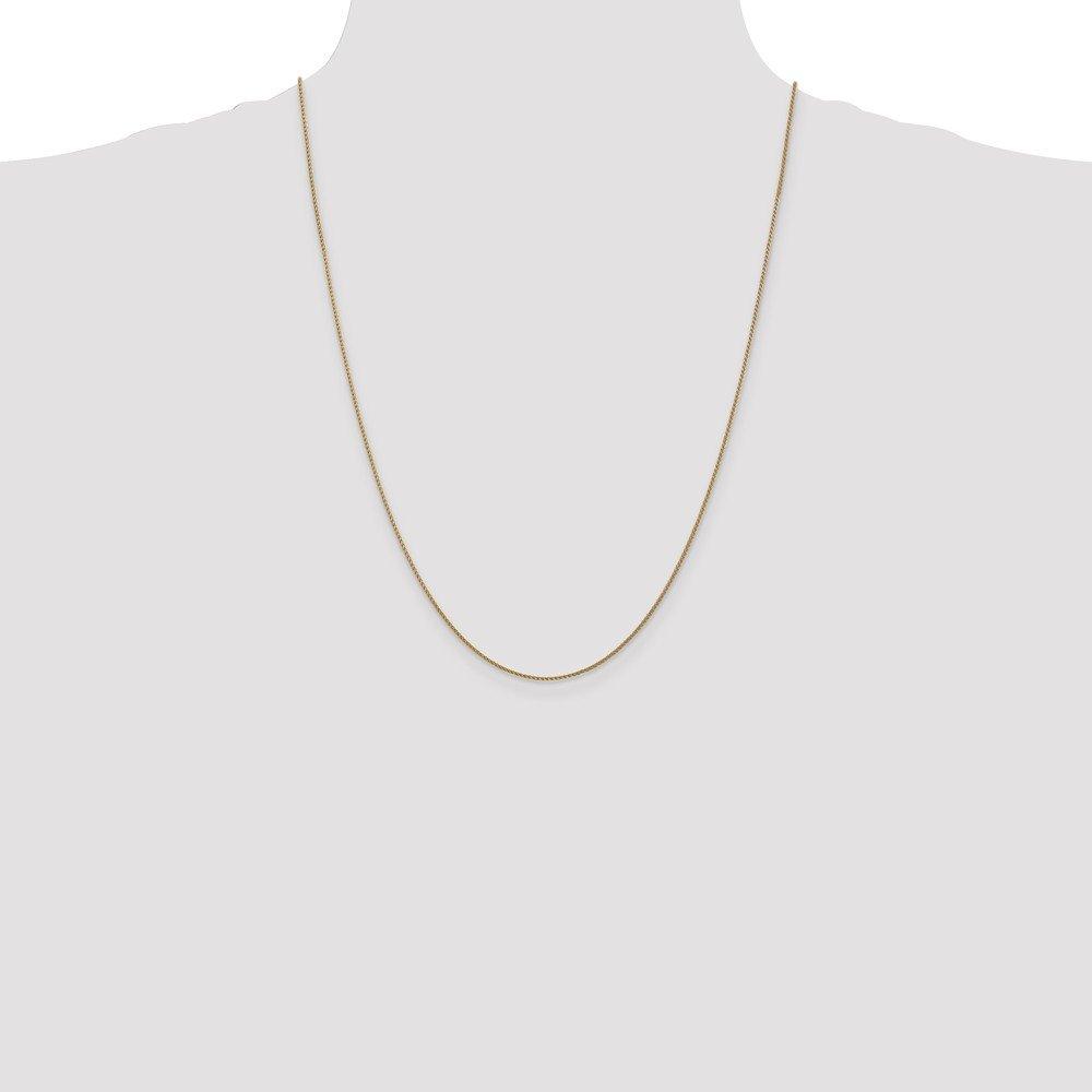 with Secure Lobster Lock Clasp Jewel Tie 14k Yellow Gold 1mm Diamond-Cut Spiga Chain