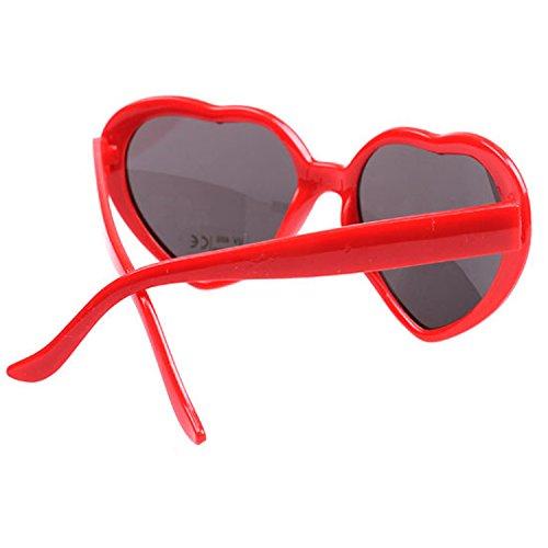 52783c502c Armear Women s Lady Girl Fashion Large Oversized Heart Shaped Retro Plastic  Sunglasses Cute Love Eyewear Red