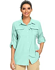 Women's Quick Dry UPF 50+ Sun Protection Long Sleeve Shirt Hiking Fishing Shirts