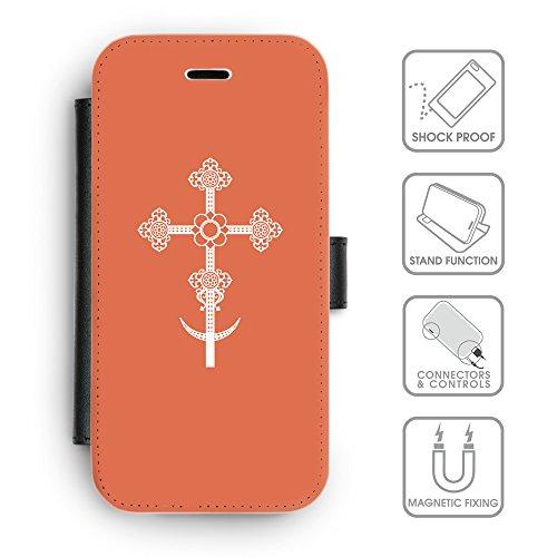 GoGoMobile Coque de Protection TPU Silicone Case pour // Q09280614 Croix chrétienne 38 Rougir // Apple iPhone 5C