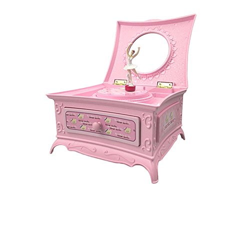 Patty Both Music box Girls birthday gift mirror jewelry box ball (Pink) by Patty Both